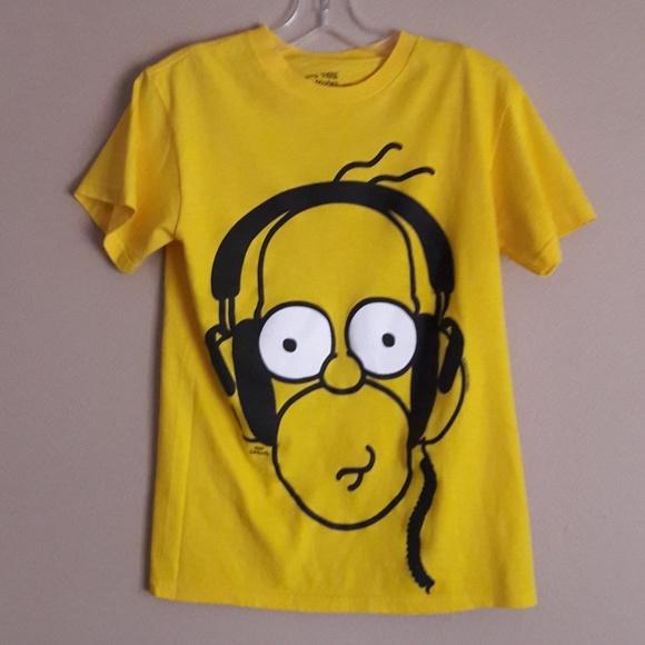 Wondrous Vintage Homer Simpson T Shirt Headphones Beutiful Home Inspiration Ommitmahrainfo